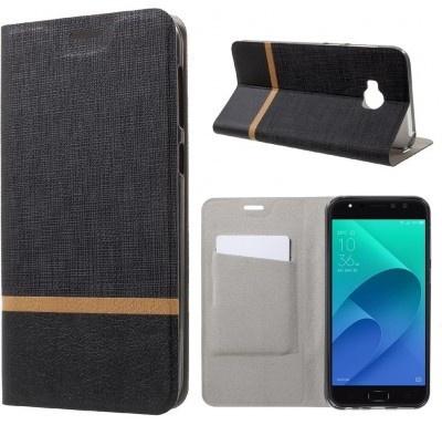 qMust Asus Zenfone 4 Selfie Pro ZD552KL Wallet Case - TPU frame - Striped Black