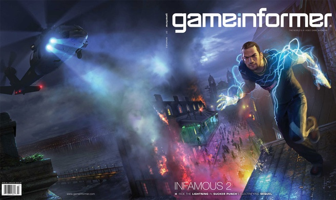 inFamous 2 in GameInformer