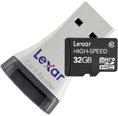 Lexar MicroSDHC CL10 + USB adapter