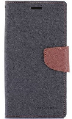 Mercury Fancy Diary WalletCase - Samsung Galaxy J5 - Zwart/Bruin Zwart