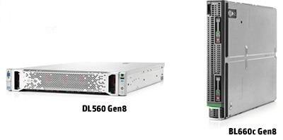 HP ProLiant BL660c en DL560 Gen8