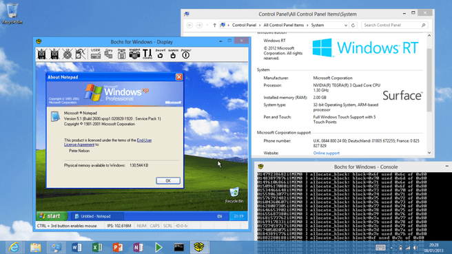 Windows Xp op Windows RT
