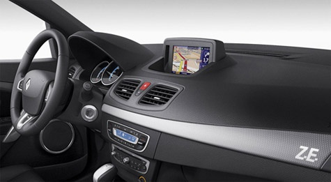 TomTom Renault Fluence Z.E. in-dash navigatiesysteem range anxiety