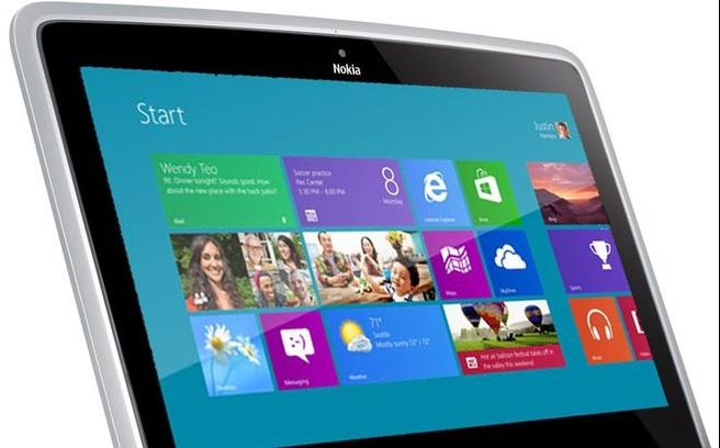 Mockup van Nokia-tablet, gebaseerd op netbook Nokia Booklet 3G uit 2009