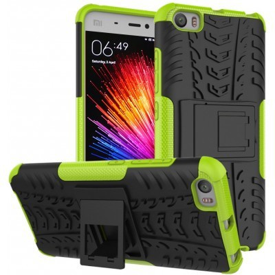 qMust Xiaomi Mi 5 Rugged Hybrid Case - Dual Protection - Green