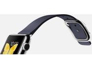 Apple Watch 38mm Roestvrij Staal - Blauw bandje, moderne gesp (groot) (Blauw)