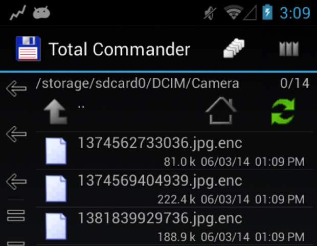 Ransomware op Android (bron: Eset)