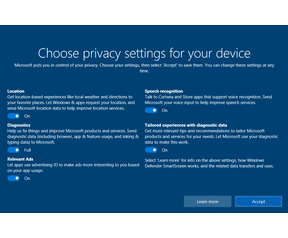 Windows 10 Creators Update Privacy