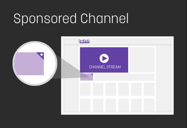 Twitch gesponsorde kanalen