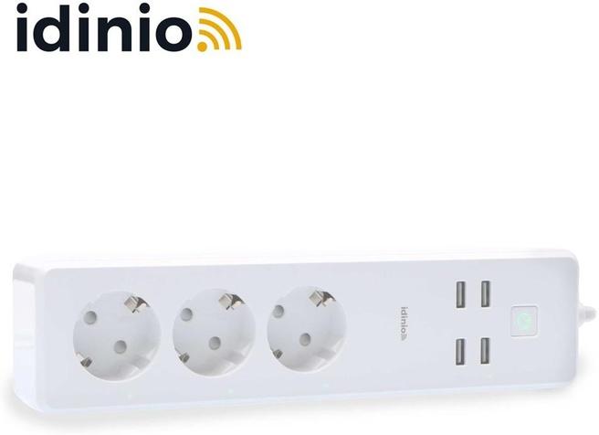 Idinio Idinio Smart verlengsnoer 3 stopcontacten + 4 USB-poorten