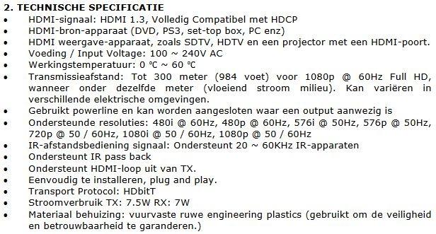 Ebode HD300PL specificaties