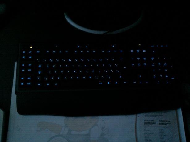 Logitech G110 verlichting blauw