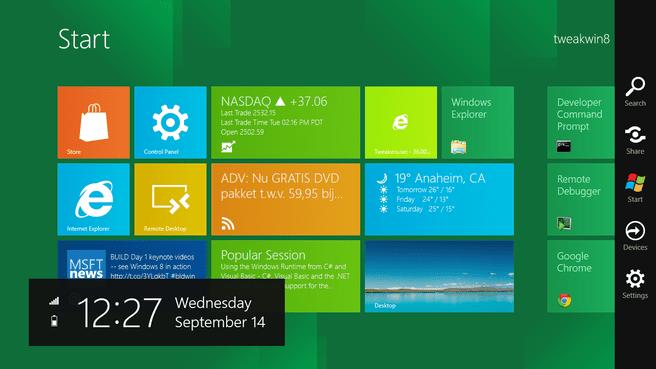 Windows 8 - Menu' s