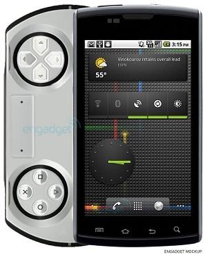 PSP-telefoon mockup