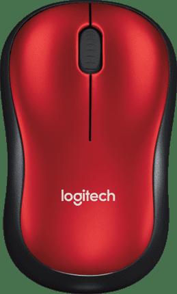 Logitech Wireless Mouse M185 Rood/zwart