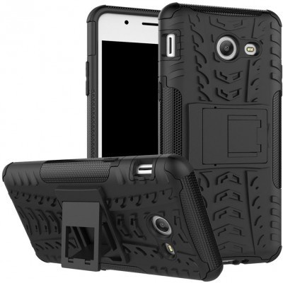 qMust Samsung Galaxy J5 (2017) Rugged Hybrid Hoesje Zwart