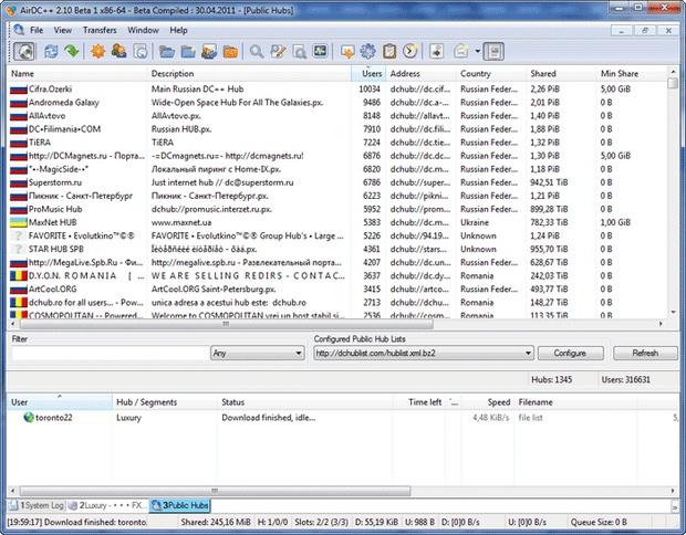 AirDC++ screenshot (620 pix)