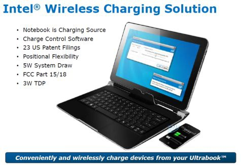 Intel Wireless Charging Ultrabooks