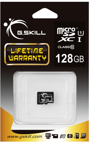 G.Skill Flash card Micro-SD128GB C10 - Secure Digital (SD)