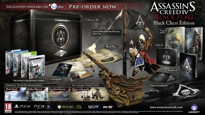 Assassin's Creed IV: Black Flag Black Chest Edition, Wii U