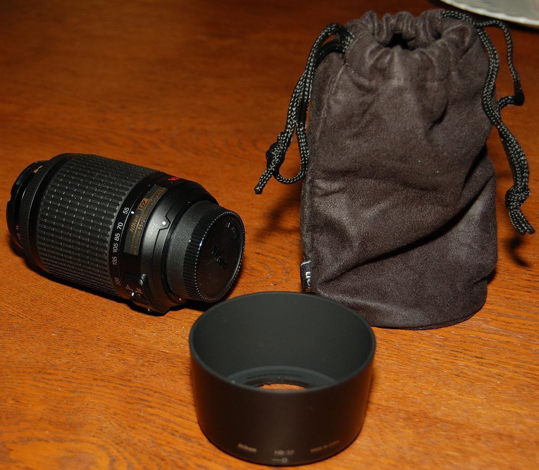 Complete set Nikkor 55-200 mm AF-S G ED IF VR