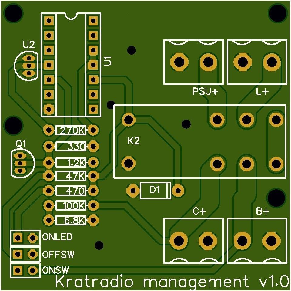 Kratradio management pcb