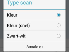 Android Select Scan type
