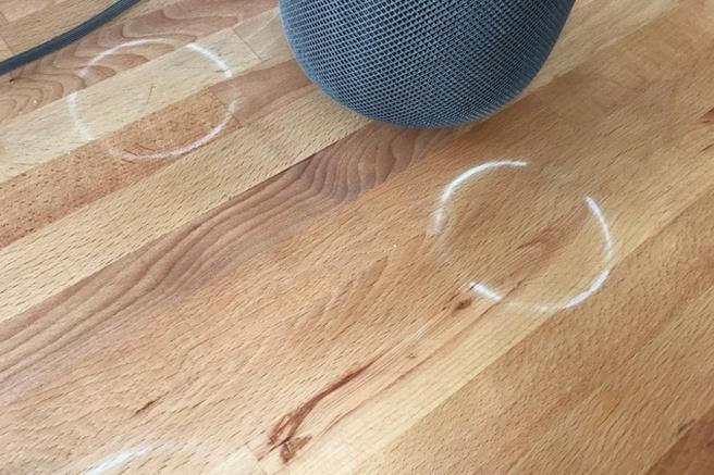 Apple Homepod witte sporen. Foto: Jon Chase
