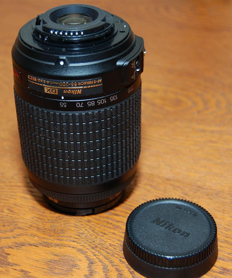 Contactpunten lens 55-200 mm