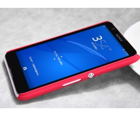 Nillkin Frosted Shield Hard Case + Folie Sony Xperia E4 - Red