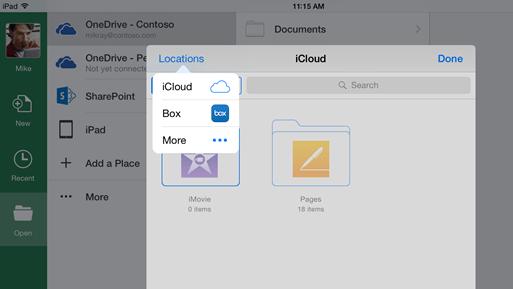 iCloud in Office