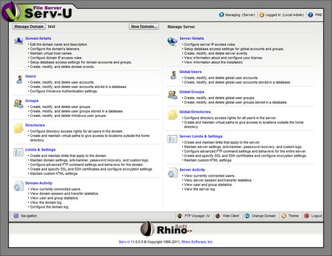 Serv-U 11.0.0.0 screenshot