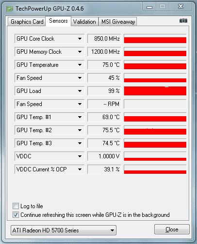 GPU-Z Stressed