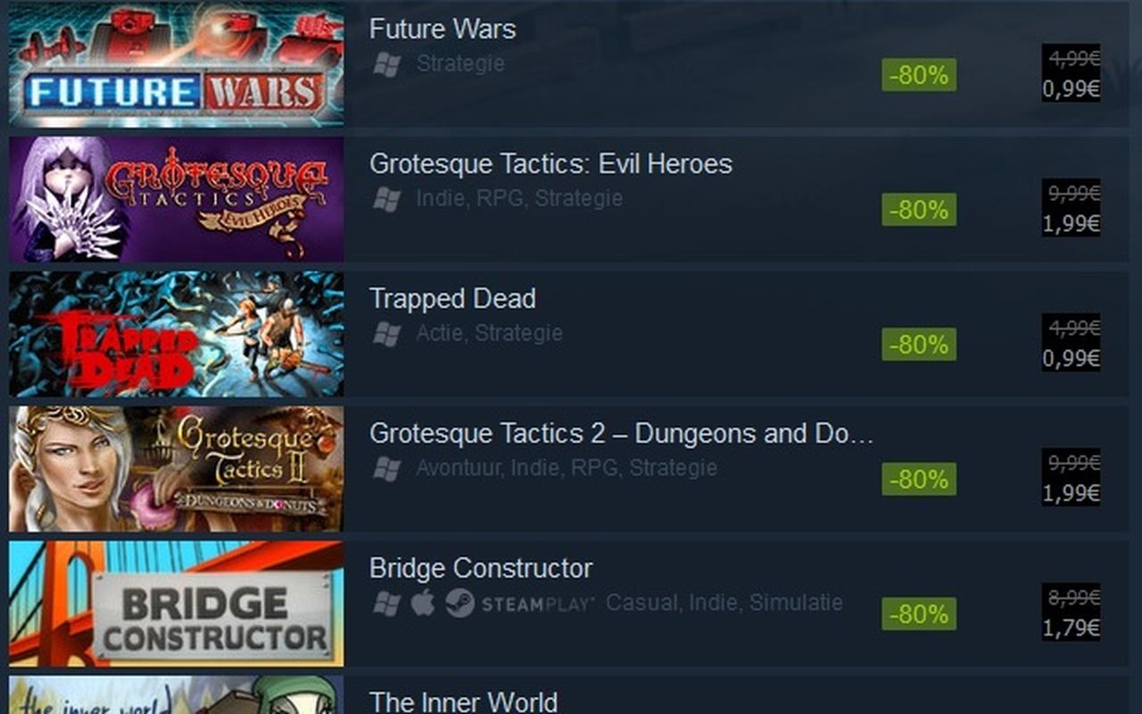 Dynamische bundelprijs op Steam