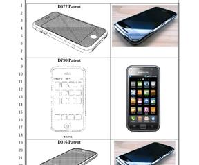 Afbeelding uit aanklacht Apple tegen Samsung