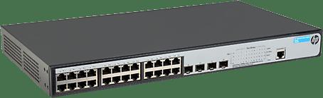 HP Procurve 1920-24G-PoE+ L3 Switch (24 x 1000Base-T en 4 x 1000Base SFP, PoE+ 180W)