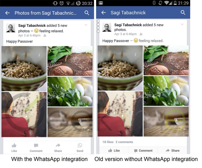 WhatsApp in Facebook