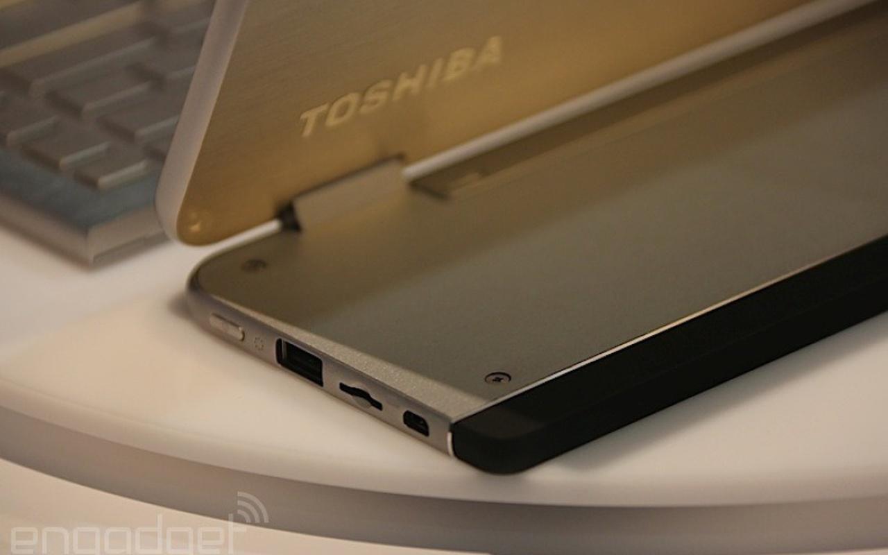 Toshiba 5-in-1-laptopconcept Prototype (Afbeeldingen afkomstig van Engadget)