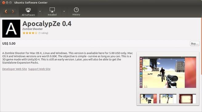 Ubuntu 13.10: commerciële game in het Ubuntu Software Center