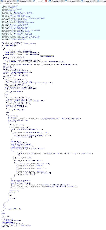 Screenshot VAC-module met DNS-cache-opvraag