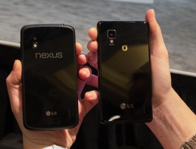 Nexus 4 en Optimus G