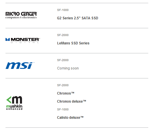 MSI gebruikt SF-2000-controller