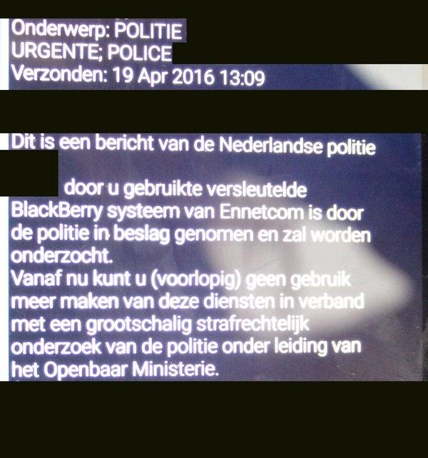 Misdaadnieuws Blackberry netwerk pgp
