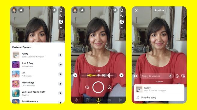 Snapchat werkt aan TikTok-achtige functie met muziek toevoegen aan Snaps