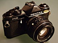 Analoge Pentax ME-camera met 50mm-lens