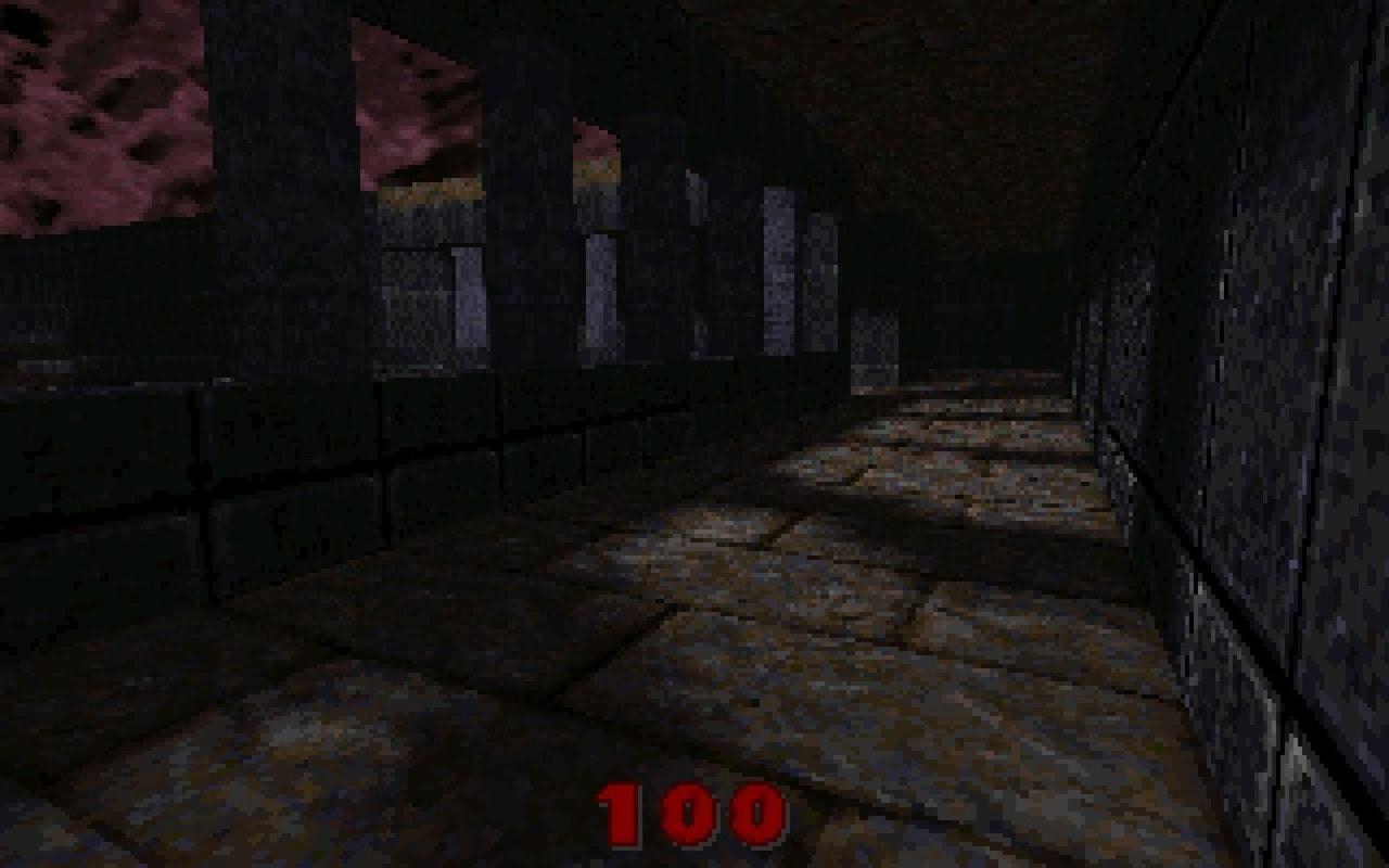 Quake-screenshots uit 1995