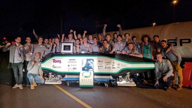 Delft Hyperloop winnaar