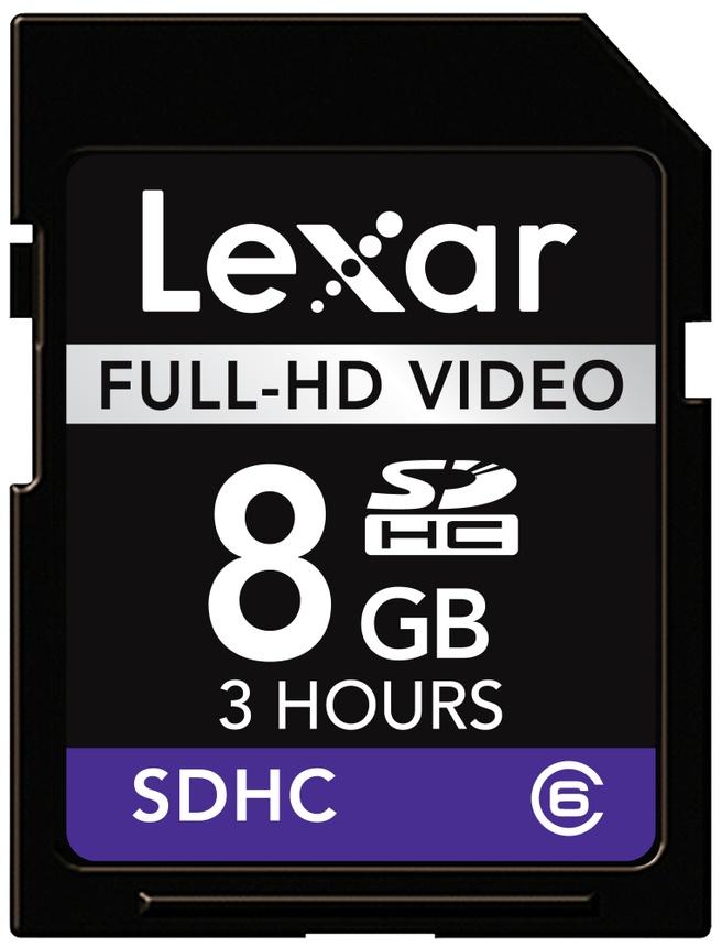 Lexar 8GB SDHC Full-HD