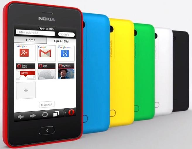 Opera Mini op Nokia Asha 501