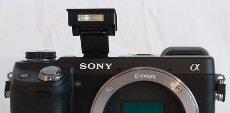 Sony NEX-6 ingebouwde flitser